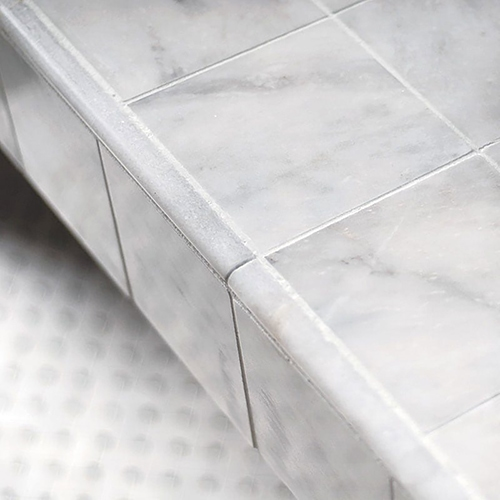 AVALON POLISHED BASKET WEAVE MARBLE MOSAICS (MS00683) GLACIER HONED PENCIL LINER MARBLE MOLDINGS (ML00506) AVALON POLISHED PENCIL LINER MARBLE MOLDINGS (ML00510) AVALON POLISHED MARBLE TILES (TL13314)