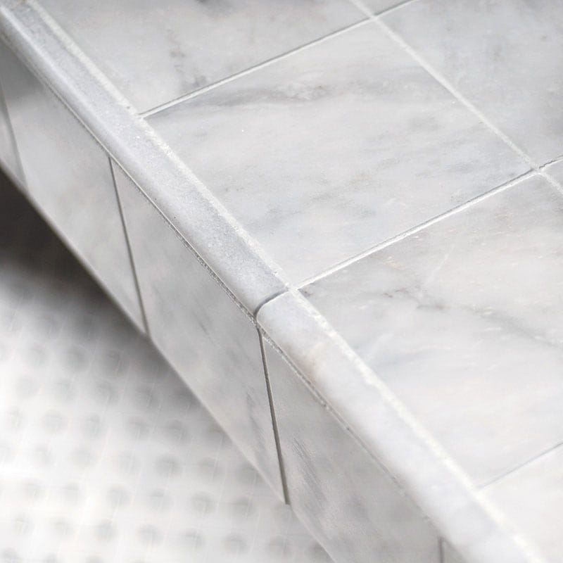 AVALON POLISHED BASKET WEAVE MARBLE MOSAICS (MS00683) GLACIER HONED PENCIL LINER MARBLE MOULDINGS (ML00506) AVALON POLISHED PENCIL LINER MARBLE MOULDINGS (ML00510) AVALON POLISHED MARBLE TILES (TL13314)