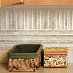 SUMMER POLISHED BALI MOSAIC TRAVERTINE MOSAICS (MS00845)