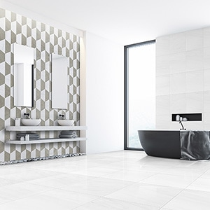 BRITANNIA, SNOW WHITE HONED MCM HEXAGON 8 LIMESTONE MOSAICS (MS01521) SNOW WHITE POLISHED MARBLE TILES (TL13308)