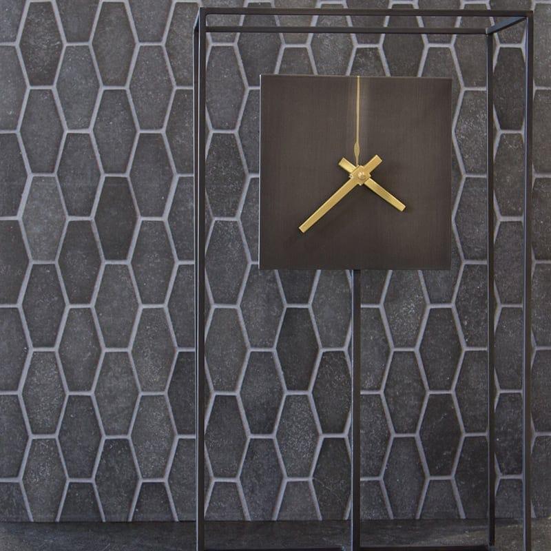 Basalto Honed Elongated Hexagon Basalt Mosaics 10x12 1/4