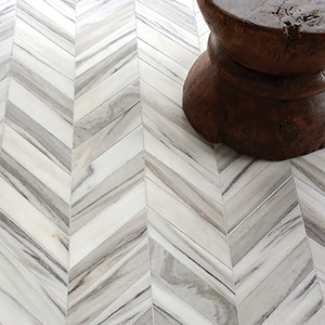 SKYLINE VEIN CUT POLISHED CHEVRON MARBLE WATERJET DECOS (NW00057)