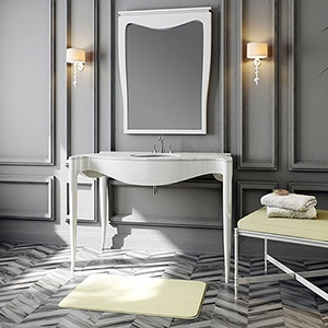 FRESH WHITE GLAMM CABINET# VANITIES (PS70003) GLAMM MIRROR (PS70046)