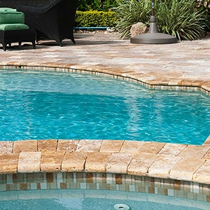 GOLDEN SIENNA TUMBLED POOL COPING TRAVERTINE POOL COPINGS (SP00338)