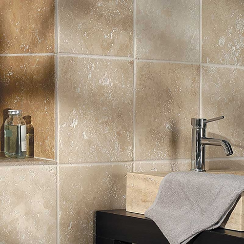 IVORY ANTIQUED TRAVERTINE TILES (TL10417)