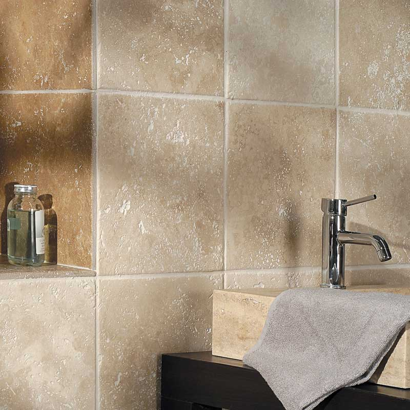 Ivory honed travertine country floors - Leroy merlin nevada ...