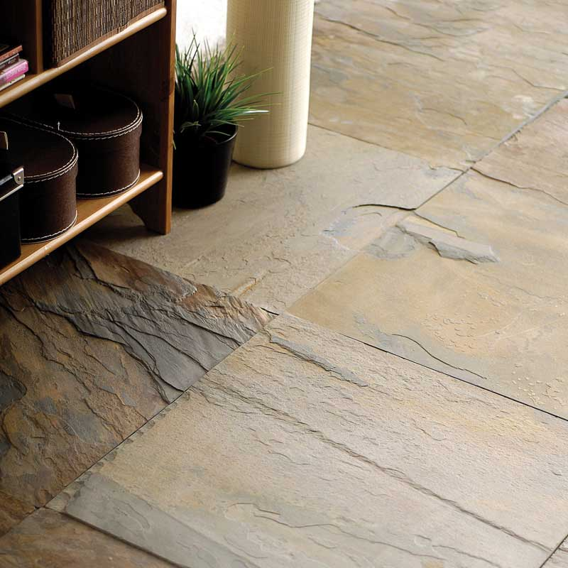 CALIFORNIA GOLD NATURAL CLEFT SLATE TILES (TL10580)