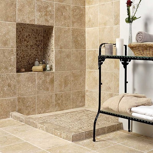 SEASHELL ANTIQUED LIMESTONE TILES (TL11957)