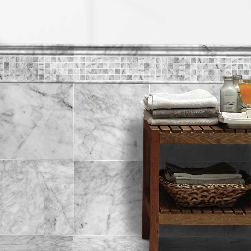 AVENZA HONED MARBLE TILES (TL12794) AVENZA HONED 1X1 MARBLE MOSAICS (MS00736) AVENZA HONED ANDORRA MARBLE MOULDINGS (ML00416) AVENZA HONED PENCIL LINER MARBLE MOULDINGS (ML00415)