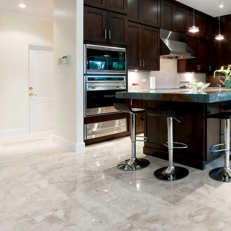 stone flooring for kitchen diana royal polished marble tiles 24x24 country floors 5824