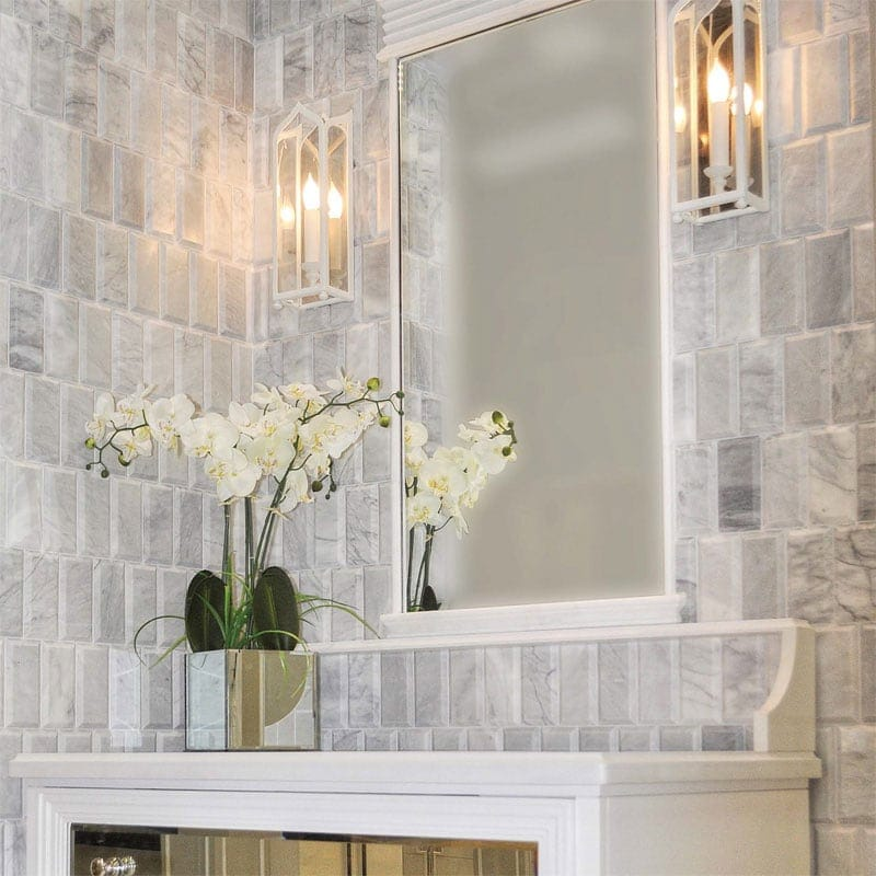 AVENZA HONED SUBWAY MARBLE TILES (TL15535)
