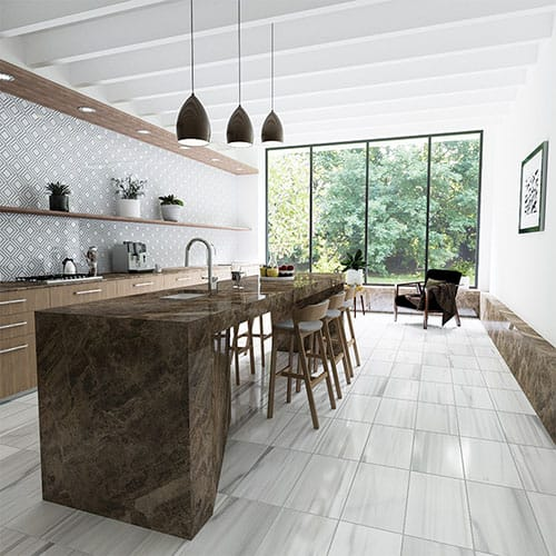 FROST WHITE HONED MARBLE TILES (TL17772)