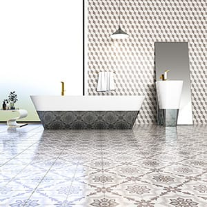 BROWN, LIGHT POLISHED GRAVE CEMENT TILES (TL18473) BROWN, LIGHT POLISHED BEL CANTO CEMENT TILES (TL18424)