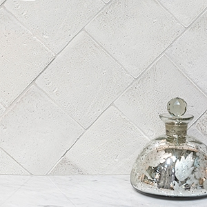 ANTIQUE WHITE SQUARE 1/2 GLAZED TERRACOTTA TILES (TL80216)