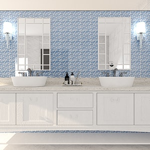 OCEAN WEAVE GLOSSY NAUTILUS CLUSTER CERAMIC TILES (TL80438) CALACATTA ROYAL POLISHED MARBLE TILES (TL18285)