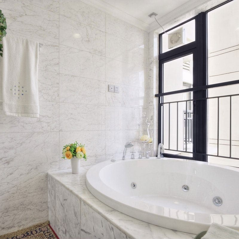 WHITE CARRARA C POLISHED MARBLE TILES (TL90443)