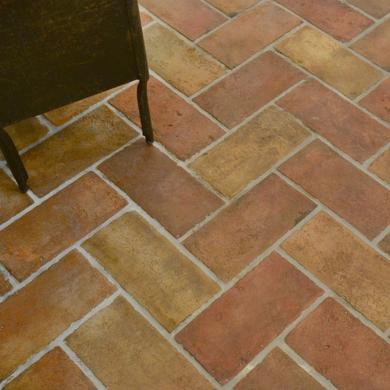 Reclaimed Natural Rectangle Terracotta Tiles 6x12