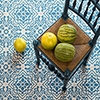 FRENCH BLUE BLEND HONED CEMENT TILES (TL90909)