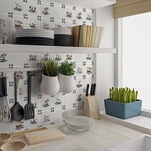 Country cottage tiles