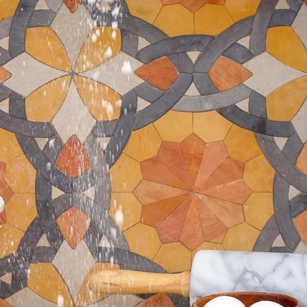 Anoushka Honed Limestone Mosaics 10x10