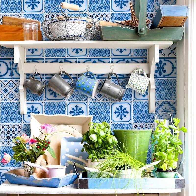 Giverny Deco 3 Glazed Ceramic Tiles 4x4