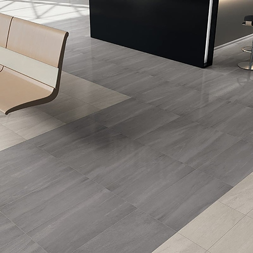 ATELIER OLIVE GREY LAPPATO PORCELAIN TILES (WIS12102) ATELIER WHITE HONED PORCELAIN TILES (WIS12111)