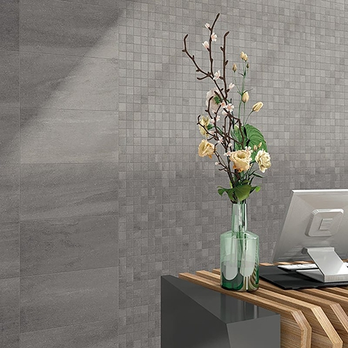 ATELIER OLIVE GREY HONED PORCELAIN TILES (WIS12108) ATELIER OLIVE GREY HONED 2X2 PORCELAIN MOSAICS (WIS12168)