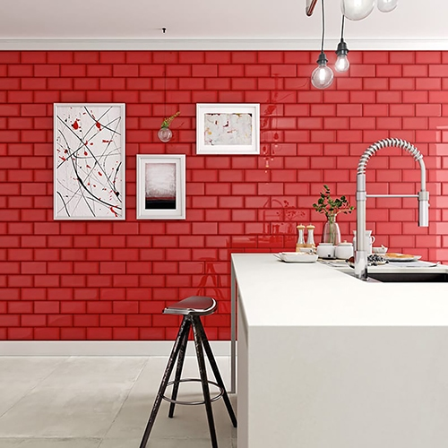 RED GLOSSY CERAMIC TILES (WIS12195)