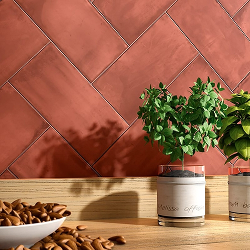 RED MATTE CERAMIC TILES (WIS12207)
