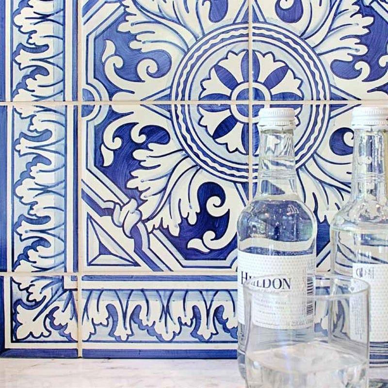 307 Border Blue Glazed Ceramic Borders 2 3/4x5 1/2
