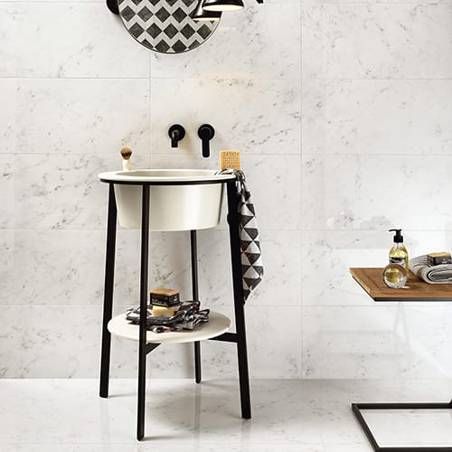BIANCO CARRARA NATURAL PORCELAIN TILES (WNB00351) BIANCO CARRARA NATURAL PORCELAIN TILES (WNB00349)