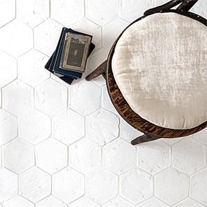 MASHIRO GLAZED HEXAGON TERRACOTTA TILES (XPL03001)