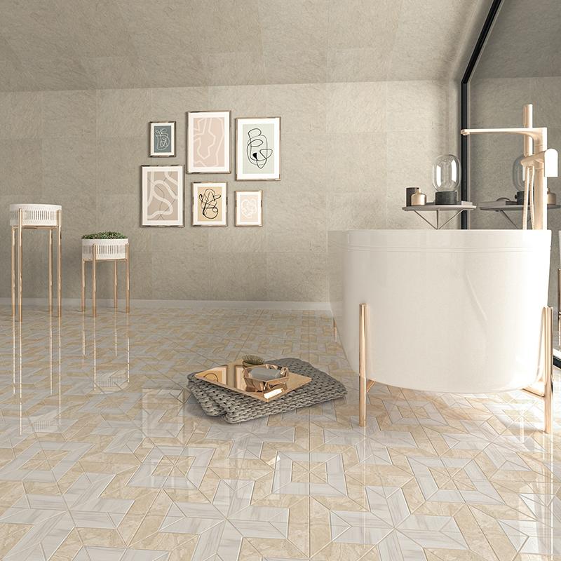 Bianco Dolomiti, Diana Royal Multi Finish Beni Marble Waterjet Decos 9x9