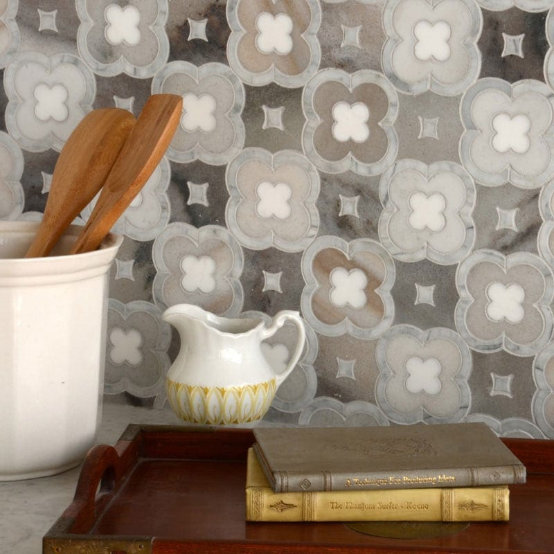 AVENZA LIGHT, DOLOMITE, PALISANDRA MULTI FINISH DAMASCUS MARBLE MOSAICS (YNR10022)