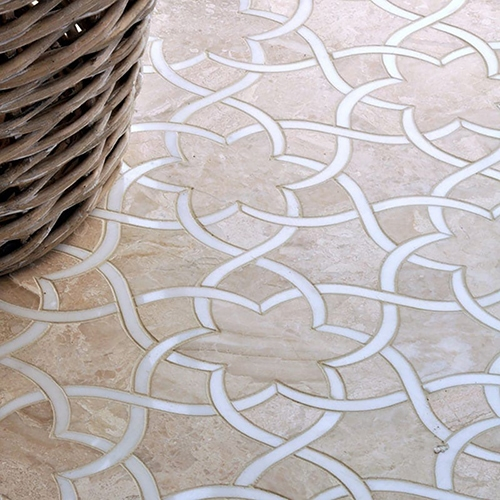 DIANA ROYAL, DOLOMITE HONED ISIDORE MARBLE WALL DECOS (YNR10027)