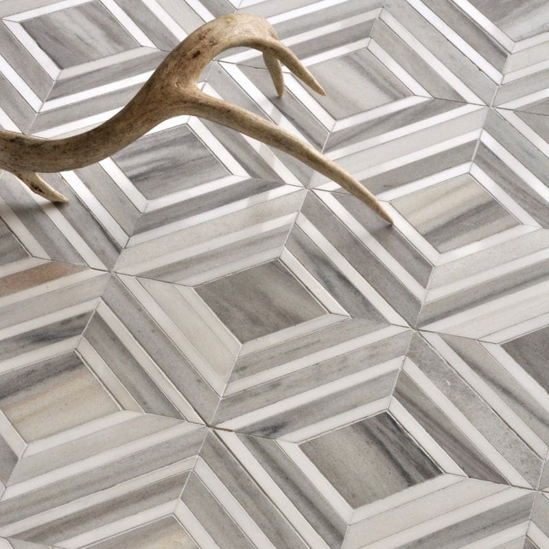 DOLOMITE, SKYLINE VEIN CUT MULTI FINISH YILDIZ MARBLE MOSAICS (YNR10045)