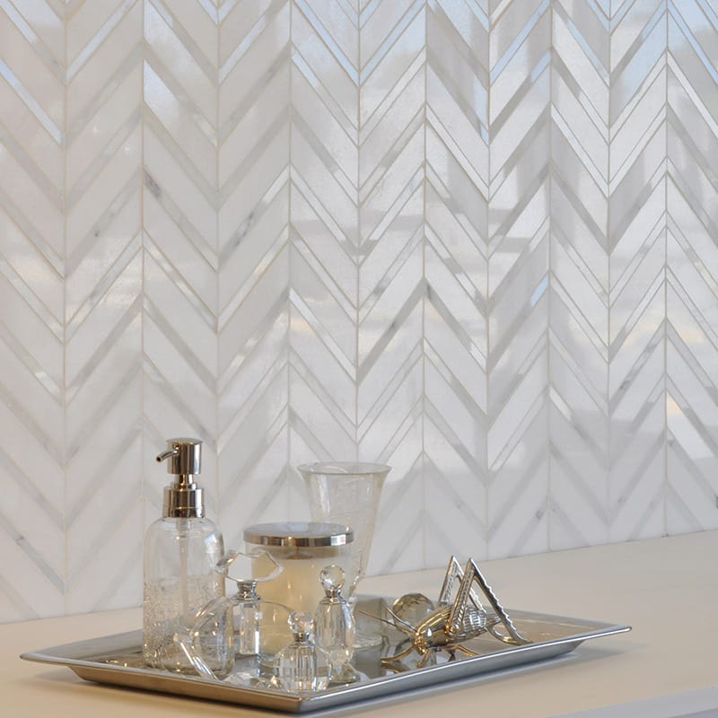 Calacatta Tia Thassos Multi Finish Raj Marble Mosaics 11