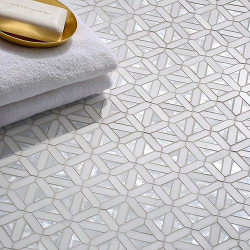 DOLOMITE, SHELL POLISHED JOIE MARBLE MOSAICS (YNR90344)