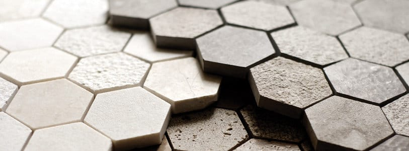 Pentagon Shaped Pattern On A Stone Floor Flooring : Honeycomb pattern in tile and stone