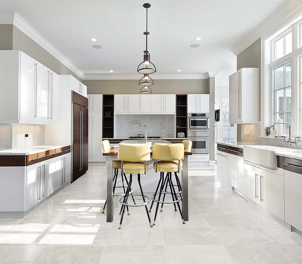 White Kitchen Floor decorating modern kitchen 2014. looking for more kitchen floor