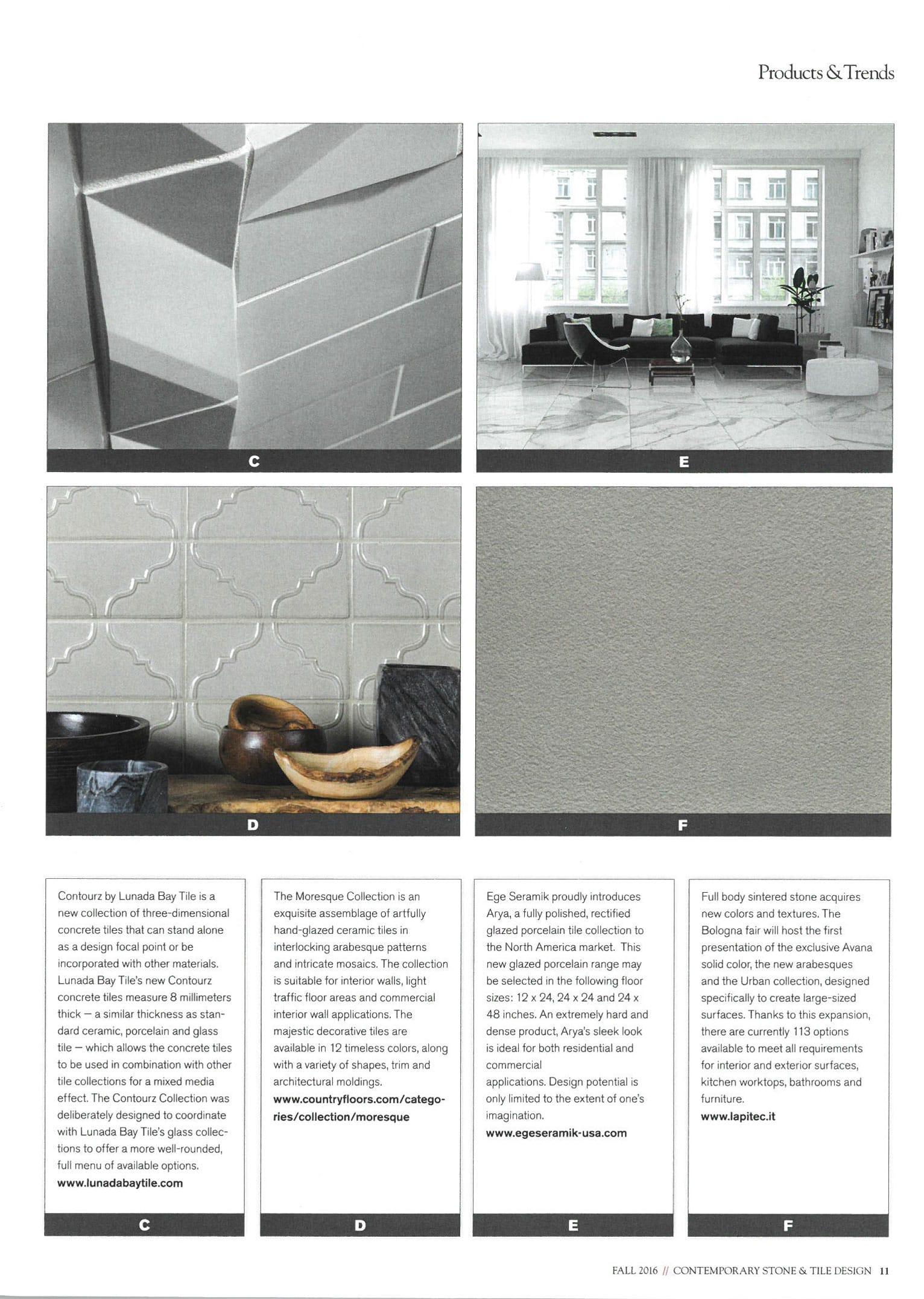 Contemporary Stone & Tile Magazine.