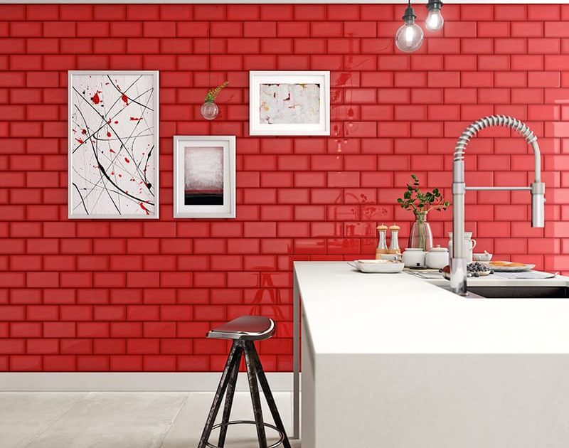 Red Tile Wall Designs