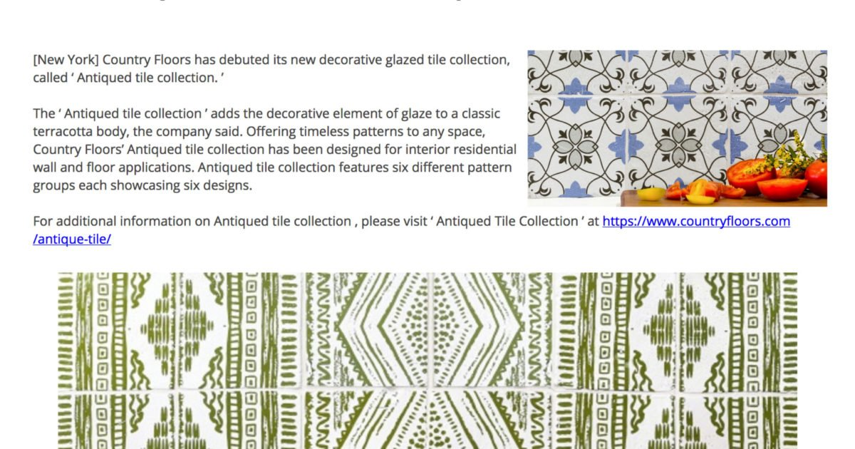 Antiqued Tile Collection