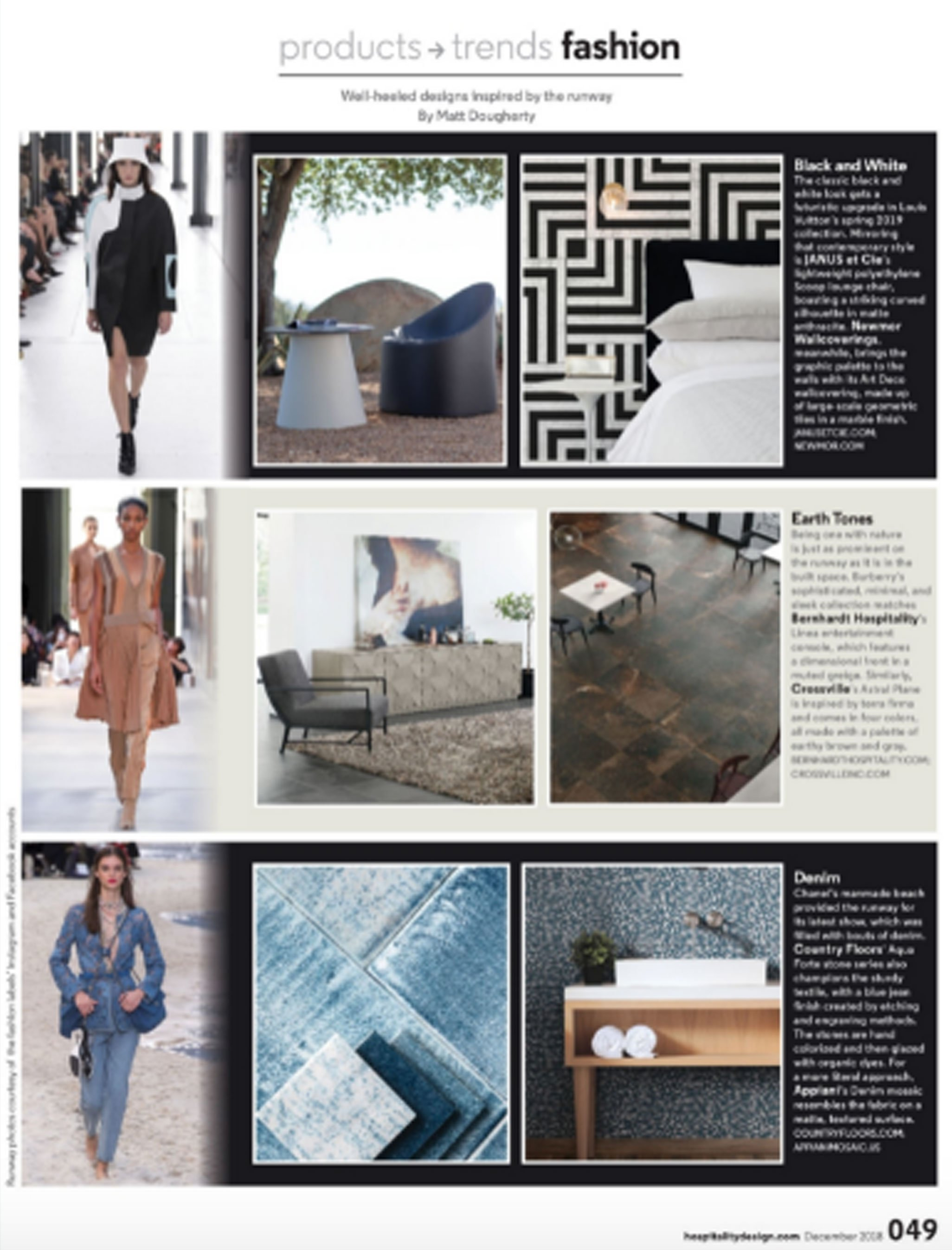 Hospitality Design Magazine- Aqua Forte Collection