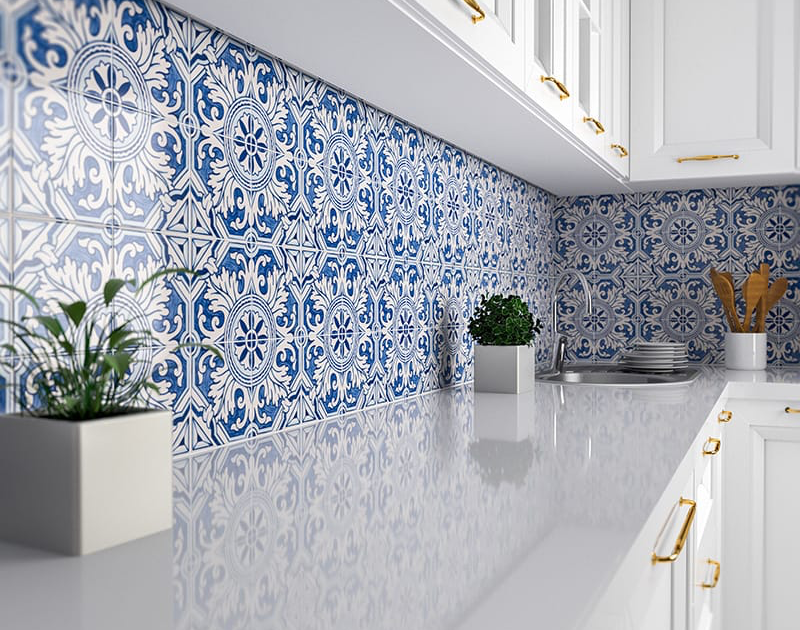 Patterned Ceramic Tile Backsplashes