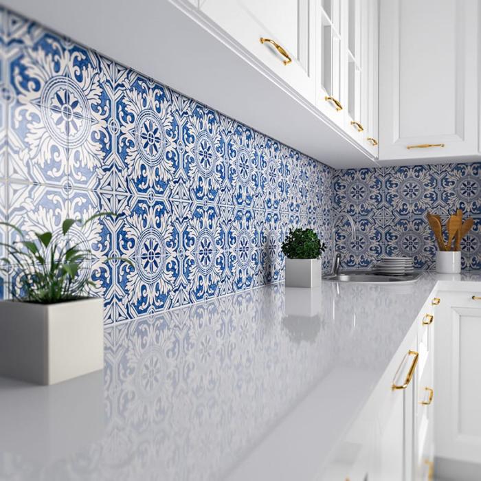 Patterned Ceramic Tile Backsplashes