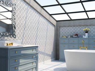 Calm Blue Ceramic Tile
