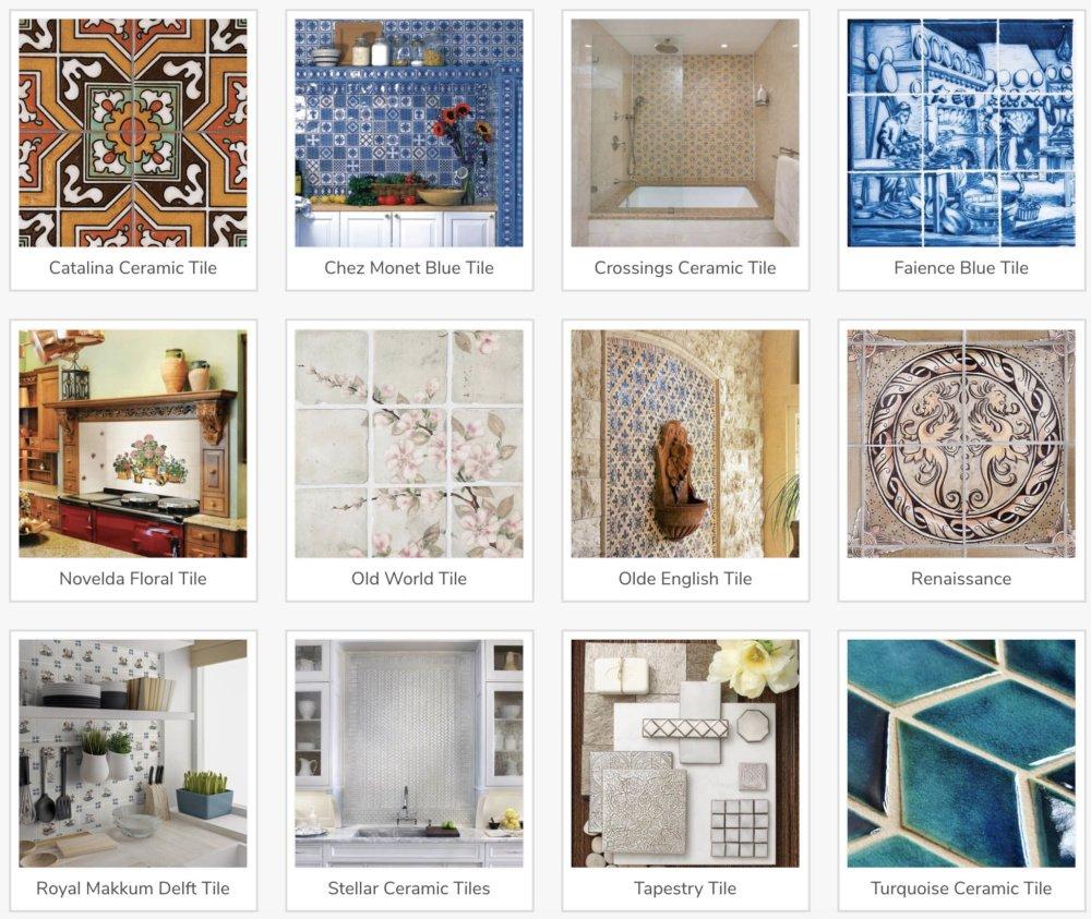 Kitchen Backsplash Tile Hand Made Tiles Ceramic Tiles