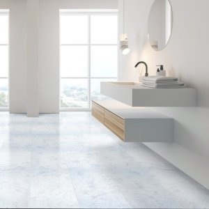Opal White Polished Marble Tiles 12x24